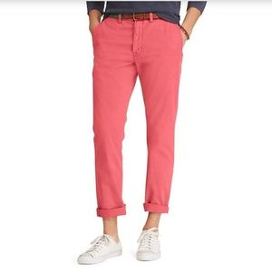 Classic Fit Bedford Chino Pants Size 32x32 Red $85